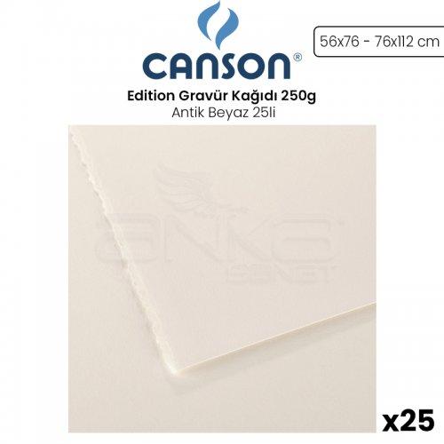 Canson Edition Gravür Kağıdı 250g Antik Beyaz 25li