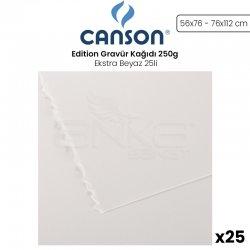 Canson - Canson Edition Gravür Kağıdı 250g Ekstra Beyaz 25li