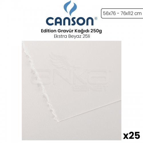 Canson Edition Gravür Kağıdı 250g Ekstra Beyaz 25li