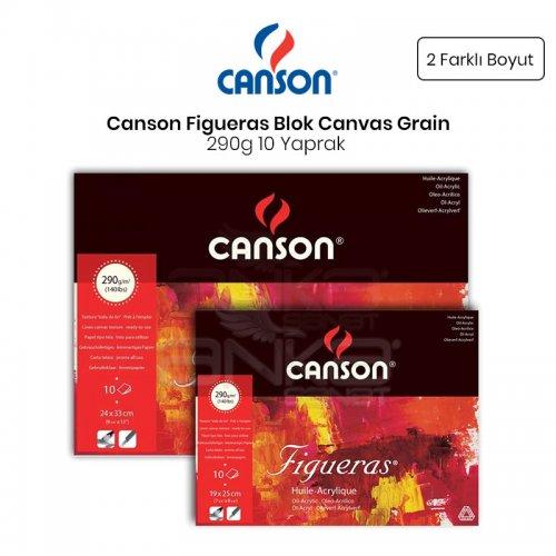 Canson Figueras Blok Canvas Grain 290g 10 Yaprak