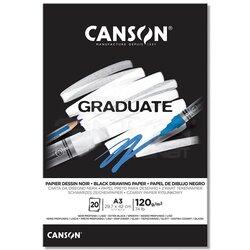 Canson - Canson Graduate Black Drawing Paper Siyah Çizim Defteri 120g 20 Yaprak (1)