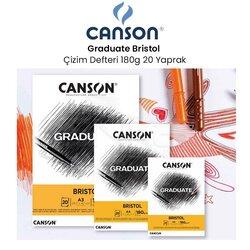 Canson - Canson Graduate Bristol Çizim Defteri 180g 20 Yaprak