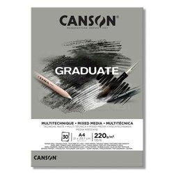 Canson Graduate Mixed Media Grey Çizim Defteri 220g 30 Yaprak - Thumbnail