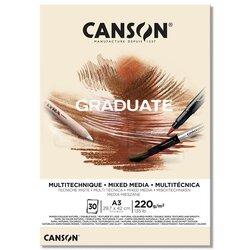 Canson - Canson Graduate Mixed Media Natural Çizim Defteri 220g 30 Yaprak (1)