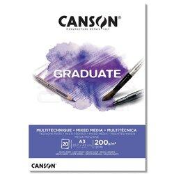 Canson - Canson Graduate Mixed Media White Çizim Defteri 200g 20 Yaprak (1)