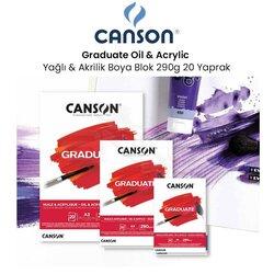Canson - Canson Graduate Oil Acrylic Yağlı ve Akrilik Boya Blok 290g 20 Yaprak