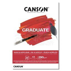 Canson - Canson Graduate Oil Acrylic Yağlı ve Akrilik Boya Blok 290g 20 Yaprak (1)