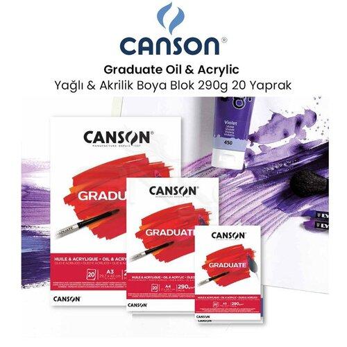 Canson Graduate Oil Acrylic Yağlı ve Akrilik Boya Blok 290g 20 Yaprak