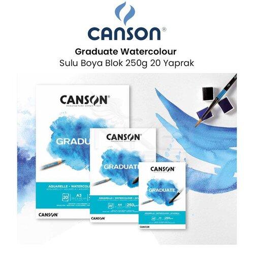 Canson Graduate Watercolour Sulu Boya Blok 250g 20 Yaprak