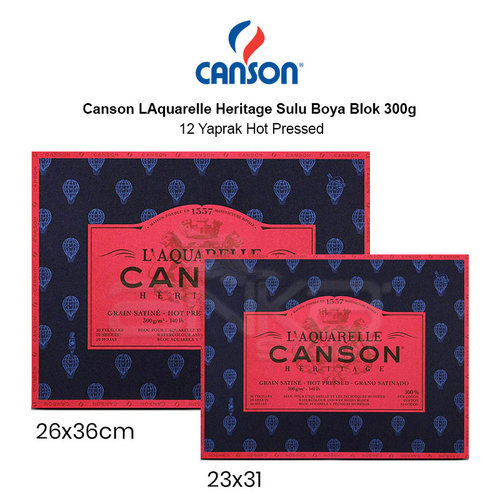 Canson LAquarelle Heritage Sulu Boya Blok 300g 12 Yaprak Hot Pressed