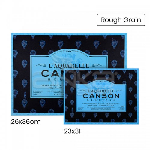 Canson LAquarelle Heritage Sulu Boya Blok 300g 12 Yaprak Rough Grain