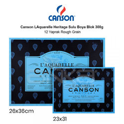 Canson LAquarelle Heritage Sulu Boya Blok 300g 12 Yaprak Rough Grain - Thumbnail