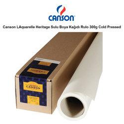 Canson - Canson LAquarelle Heritage Sulu Boya Kağıdı Rulo 300g Cold Pressed