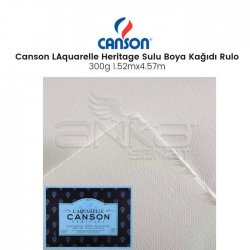 Canson - Canson LAquarelle Heritage Sulu Boya Kağıdı Rulo 300g Rough Grain (1)