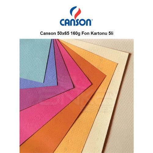 Canson 50x65 160g Fon Kartonu 5li