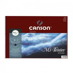 Canson - Canson Mi-Teintes Siyah Pastel Defteri Spiralli 16 Yaprak 160g (1)