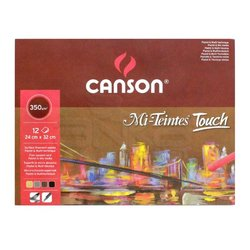 Canson - Canson Mi-Teintes Touch Pastel Defteri 12 Yaprak 350g (1)