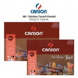 Canson - Canson Mi-Teintes Touch Pastel Defteri 12 Yaprak 350g
