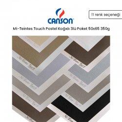 Canson - Canson Mi-Teintes Touch Pastel Kağıdı 3lü Paket 50x65 350g