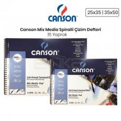Canson Mix Media Spiralli Çizim Defteri 15 Yaprak 200g - Thumbnail