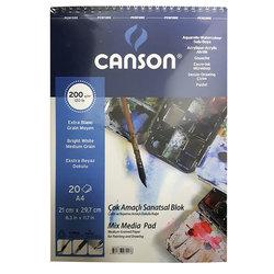 Canson - Canson Mix Media Spiralli Çizim Defteri 20 Yaprak (1)