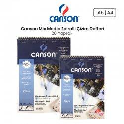 Canson Mix Media Spiralli Çizim Defteri 20 Yaprak 200g - Thumbnail