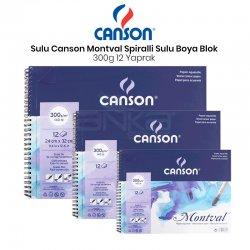 Canson - Canson Montval Spiralli Sulu Boya Blok 300g 12 Yaprak