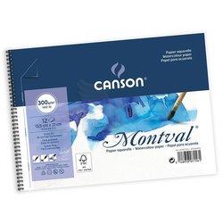 Canson - Canson Montval Spiralli Sulu Boya Blok 300g 12 Yaprak (1)