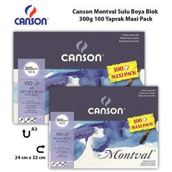 Canson - Canson Montval Sulu Boya Blok 300g 100 Yaprak Maxi Pack