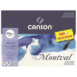 Canson - Canson Montval Sulu Boya Blok 300g 100 Yaprak Maxi Pack (1)