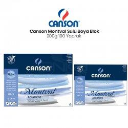 Canson - Canson Montval Watercolour Sulu Boya Blok 200g 100 Yaprak