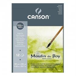 Canson Moulin du Roy Çizim Blok 300g 12 Yaprak Cold Pressed - Thumbnail