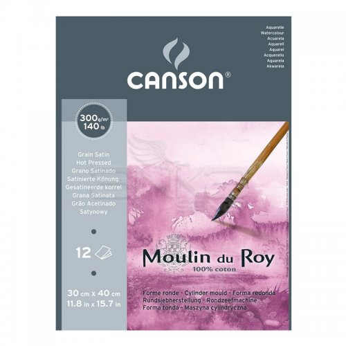 Canson Moulin du Roy Çizim Blok 300g 12 Yaprak Hot Pressed