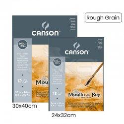 Canson Moulin du Roy Çizim Blok 300g 12 Yaprak Rough Grain-Sulu Boya Blok  Defter, Sulu Boya Kağıt ve Blok-Canson-indirimli