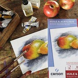 Canson - Canson Oil & Acrylic Paper Pad Yağlı & Akrilik Boya Çizim Defteri 290g 10 Sayfa (1)