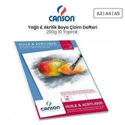 Canson - Canson Oil & Acrylic Paper Pad Yağlı & Akrilik Boya Çizim Defteri 290g 10 Yaprak