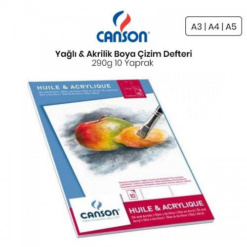 Canson Oil & Acrylic Paper Pad Yağlı & Akrilik Boya Çizim Defteri 290g 10 Yaprak
