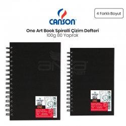 Canson - Canson One Art Book Çizim Defteri Spiralli 100g 80 Yaprak