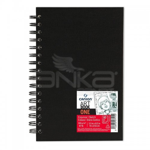 Canson One Art Book Çizim Defteri Spiralli 100g 80 Yaprak