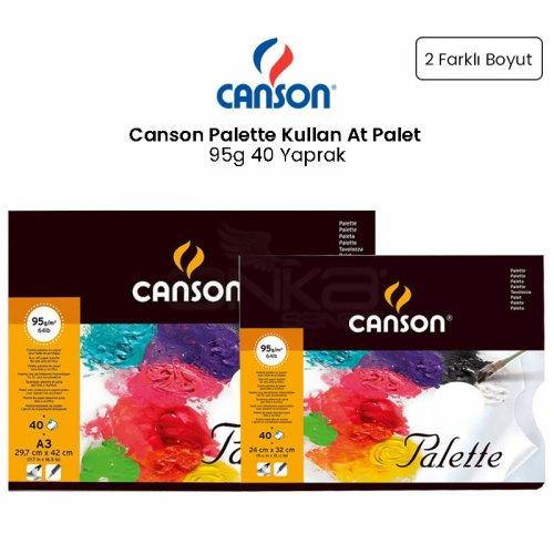 Canson Palette Kullan At Palet 95g 40 Yaprak