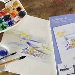 Canson Watercolour Sulu Boya Blok 300g 10 Yaprak - Thumbnail