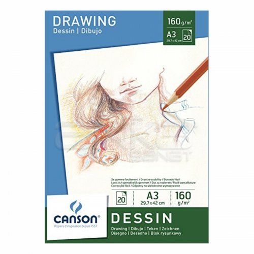 Canson White Drawing Paper Pad Beyaz Çizim Defteri 160g 20 Sayfa