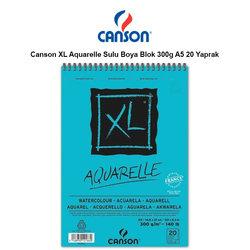 Canson XL Aquarelle Sulu Boya Blok 300g A5 20 Yaprak - Thumbnail