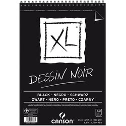 Canson - Canson XL Dessin Noir Siyah Çizim Bloğu (1)