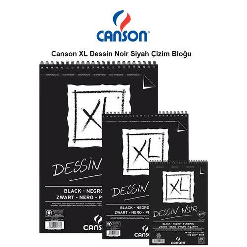 Canson XL Dessin Noir Siyah Çizim Bloğu