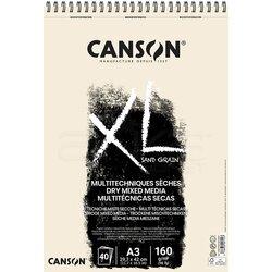 Canson - Canson XL Dry Mix Media Naturel Sand Paper Spiralli Defter 40 Yaprak 160g (1)
