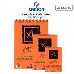Canson - Canson XL Croquis Eskiz Defteri 90g 50 Yaprak Üstten Spiralli