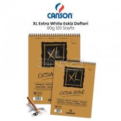 Canson - Canson XL Extra White Eskiz Defteri 90g 120 Yaprak