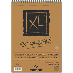 Canson XL Extra White Eskiz Defteri 90g 120 Yaprak - Thumbnail