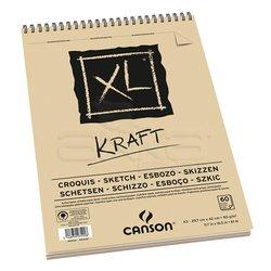 Canson - Canson XL Kraft Spiralli Eskiz Defteri 90g 40 yaprak (1)